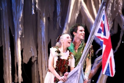 Antoinette Brooks-Daw as Wendy and Jeremy Curnier as Peter Pan v2. Photo Lauren Godfrey (400x267)