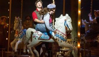 """ Keith Higham as Billy Bigelow, Gillene Butterfield as Julie Jordan ©Alastair Muir 12.05.15 Carousel 063"""