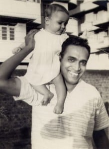 Sita Brand with her father