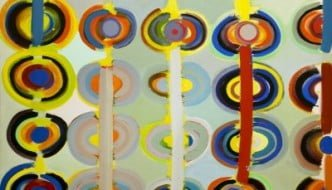 Terry Frost, Autumn Rings Andeuze, 1971. The Collection (Usher Gallery, Lincoln) (c) The estate of Sir Terry Frost