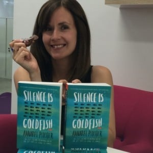 Annabel with her new novel, Silence is Goldfish