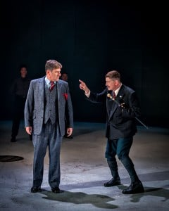 Dale Rapley and Reece Dinsdale in Richard III. Photo Anthony Robling