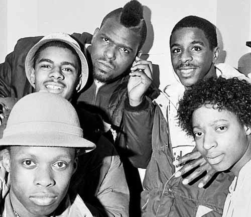 Wolverhampton B Boys with Hip Hop founder Afrika Bambaataa in 1985