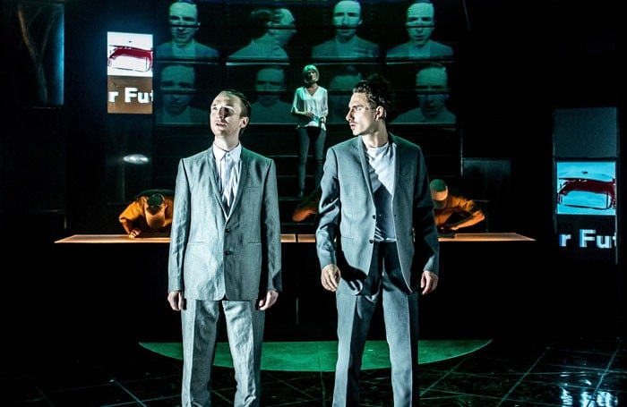 Gruffudd Glyn and William Postlethwaite in Brave New World. Photo Manuel Harlan