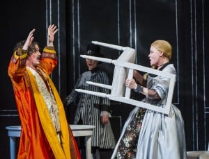 A scene from Cosi Fan Tutte by Mozart @ Grand Theatre, Leeds. An Opera North production. ©Tristram Kenton