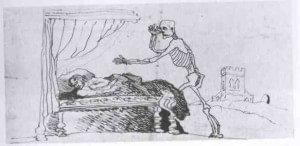 Branwell Brontë's deathbed drawing