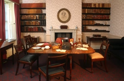 Brontë Parsonage Dining Room Courtesy of the Brontë Society