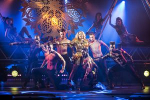 3. Alexandra Burke as Rachel Marron and company in THE BODYGUARD. Photo by Paul Coltas