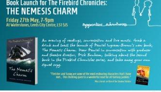 Nemesis Charm Book Launch Flyer