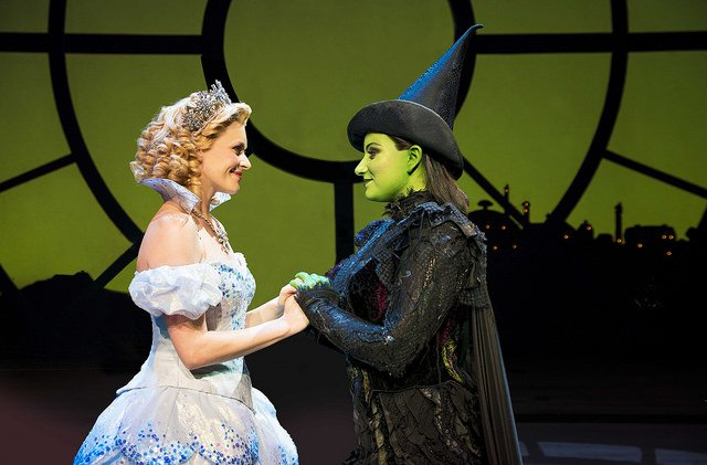 Carly Anderson as Glina with Jacqueline Hughes as Elphaba, photo Matt Crockett