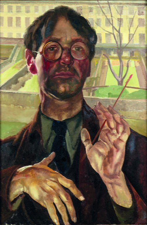 Stanley Spencer, Self-portrait, Adelaide Road, 1939, oil on canvas. Private collection, courtesy Hazlitt Holland-Hibbert © The Estate of Stanley Spencer / Bridgeman Images.