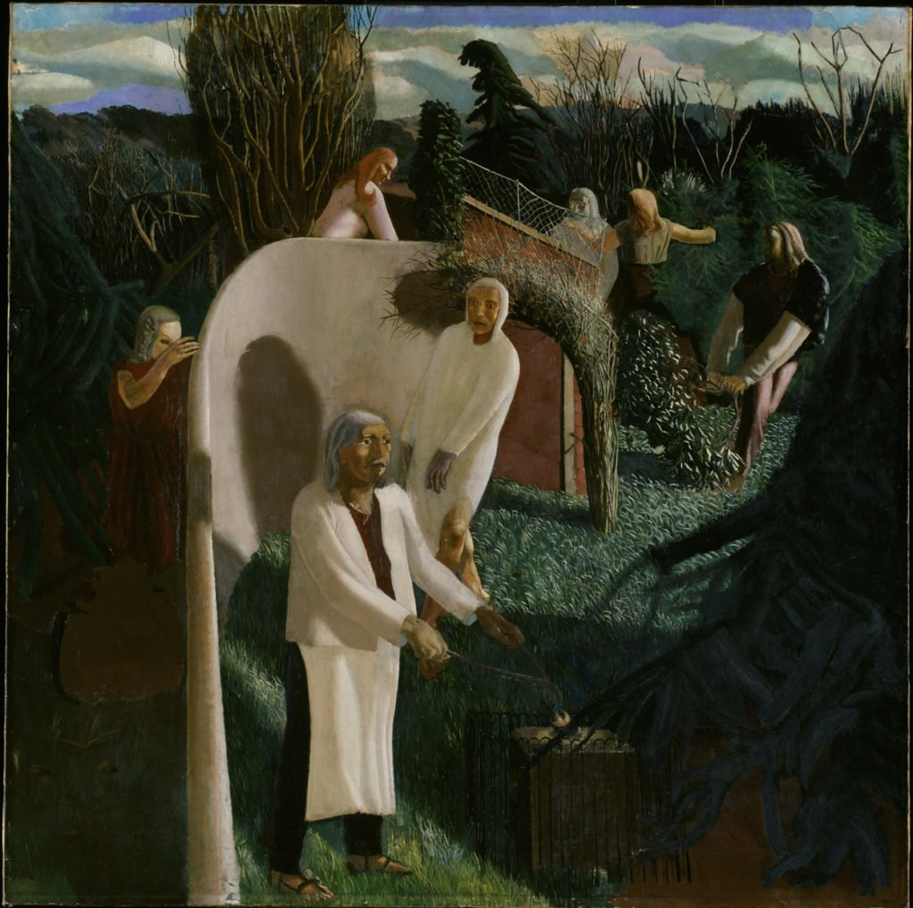 Stanley Spencer, Zacharias and Elizabeth, 1913, oil on canvas © The Estate of Stanley Spencer / Bridgeman Images, Photography © Tate, London 2016.
