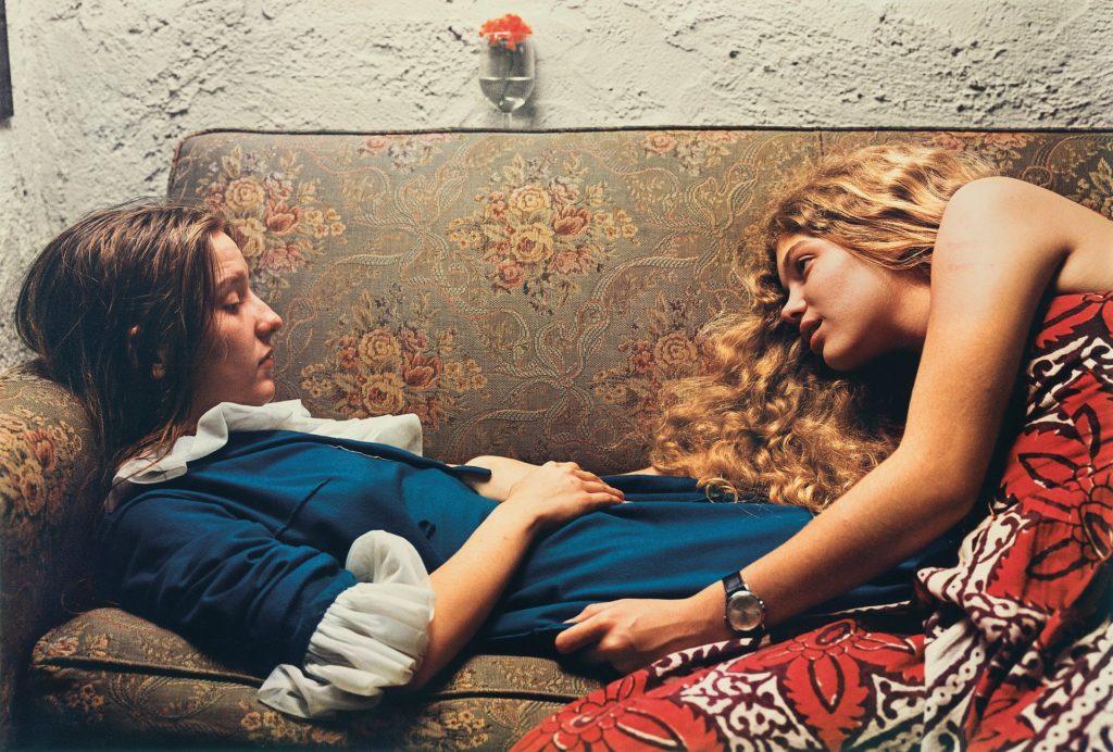 Eggleston's Untitled, 1974, Karen Chatham, left, with the artist's cousin Lesa Aldridge, in Memphis, Tennessee. Photograph: © Eggleston Artistic Trust