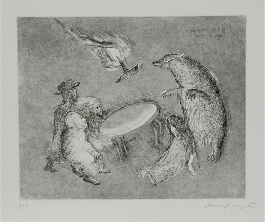 Leonora Carrington 'Badger Suite' (3 etchings) (1987)
