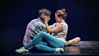 Harry Egan and Charlotte Bate in Blackthorn. Photo: Anthony Robling