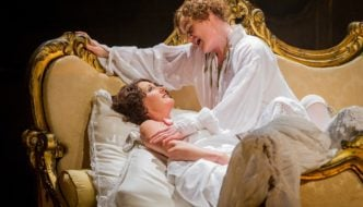 Ylva Kihlberg as The Marschallin and Helen Sherman as Octavian. Photo Credit: Robert Workman