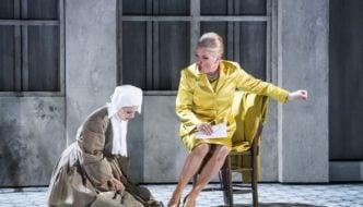 Anne Sophie Duprels as Sister Angelica and Patricia Bardon as The Princess. Photo Trisram Kenton
