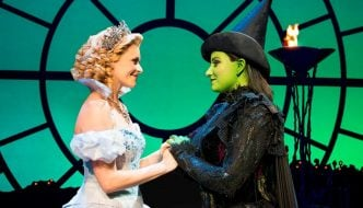 Production Image Wicked - Glinda and Elphaba a previous cast. Photo credit Matt Crockett_LR