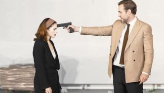 Ruth Wilson and Rafe Spall in Hedda Gabler. Photo by Jan Versweyveld