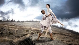 Dreda Blow and Isaac Lee-Baker in Jane Eyre. Photo: Guy Farrow