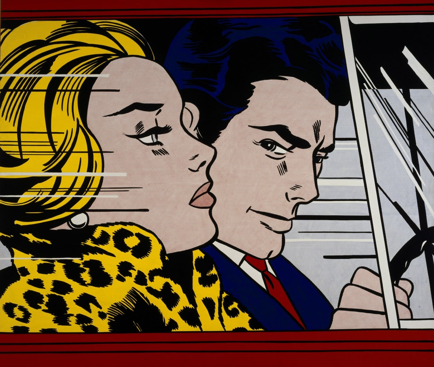 Roy Lichtenstein In The Car 1963
