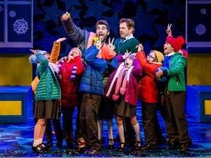 NATIVITY! THE MUSICAL. Simon Lipkin Mr Poppy and Daniel Boys Mr Maddens and the children of St Bernadettes. Photo by Richard Davenport